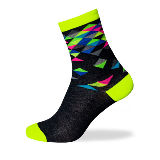 Biotex Multicolor Diamond Socken - Gelb Fluo