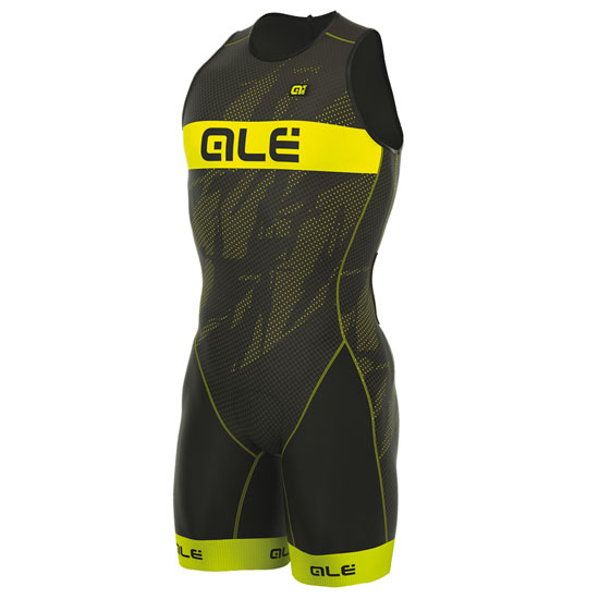 Body Ale Tri Record Zip Back - Gelb Fluo