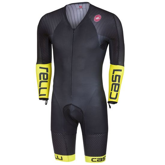 Body langarm Castelli Body Paint 3.3 Speed Suit - Gelb