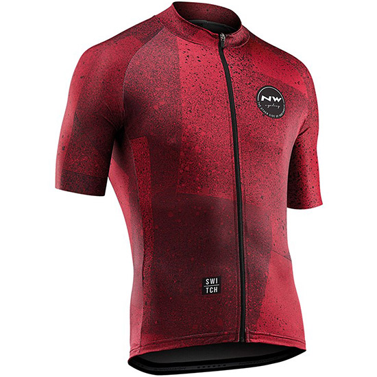 Northwave Abstract Trikot - Rot