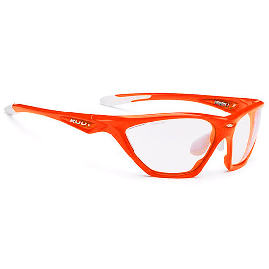 Rudy Firebolt Brille - Orange Fluo Photo Clear