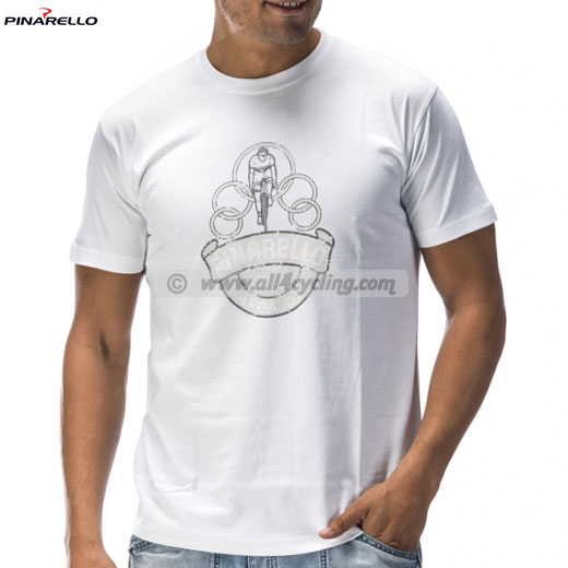 T-Shirt Pinarello Olympic - Weiss