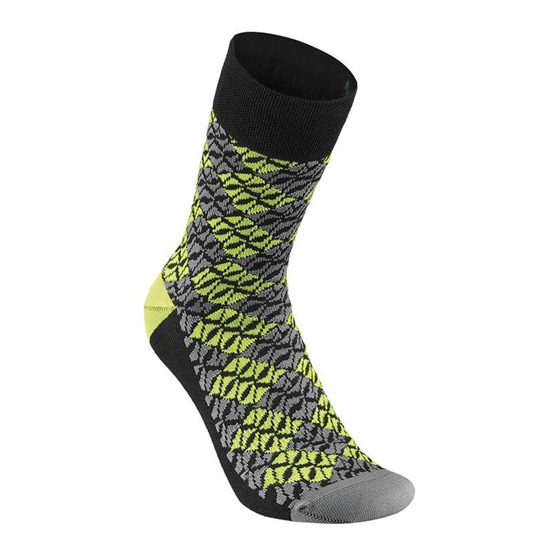 Socken Winter Specialized Lozenge - Gelb Neon